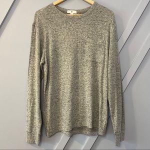 bp grey long sleeve knit top soft warm cozy basic